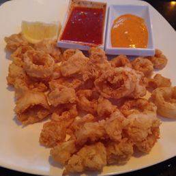 Photo of CP Grill - College Point, NY, United States. Calamari ain't just an Italian thing at all.. that's coming from an Italian.. proper Greeks crush this lovely app..