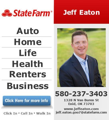 Jeff Eaton State Farm Insurance Agent 2400 2484 N Van Buren Enid Ok Insurance Mapquest
