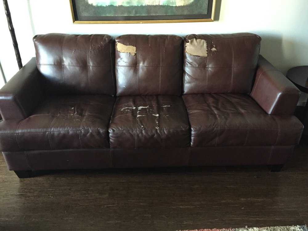 Ling On Bonded Leather Sofa That I