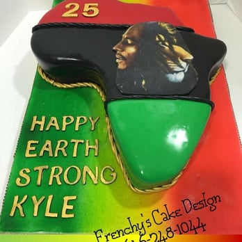Super Bob Marley Cake Inside Was Jamaican Rum Fruit Cake Yeah Mon Personalised Birthday Cards Veneteletsinfo