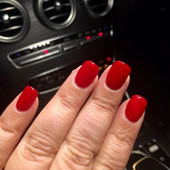 Just finished getting my SNS Christmas,red nail game on