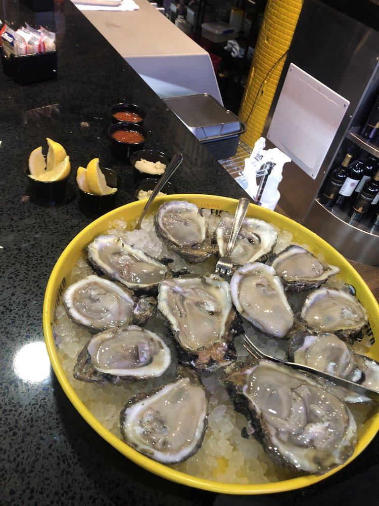 Oysters. HH is $6 - Yelp
