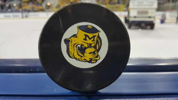 Photo of Yost Ice Arena - Ann Arbor, MI, United States. Got a puck!