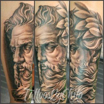 A Nice Poseidon Tattoo Done On The Forearm Yelp