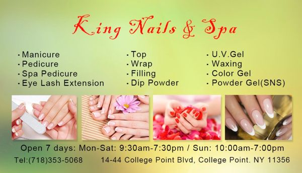 King Nails Spa 1444 College Point Blvd College Point Ny Manicurists Mapquest