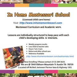 In Home Montessori School Montessori Schools 7643 Elkhorn