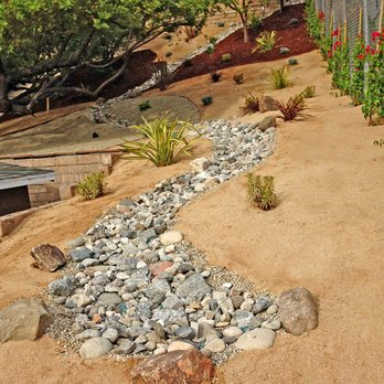 Hillside Drought Tolerant Landscape Dg Decomposed Granite Rock
