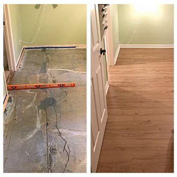 We Installed The Vinyl Plank Flooring The Quarter Round