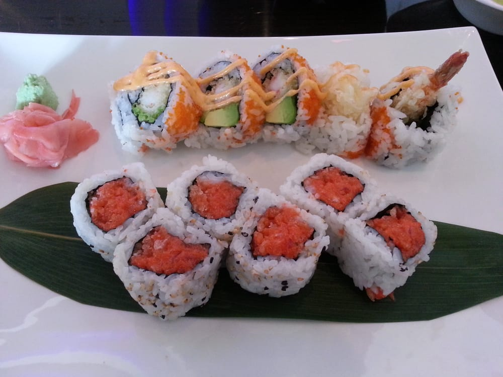 Photo of Sushi Hana - Bradenton, FL, United States. Bottom: spicy tuna, top: Mexican