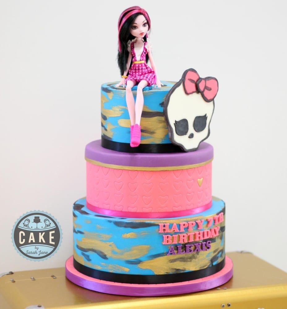 Astonishing Monster High Birthday Cake Yelp Funny Birthday Cards Online Fluifree Goldxyz