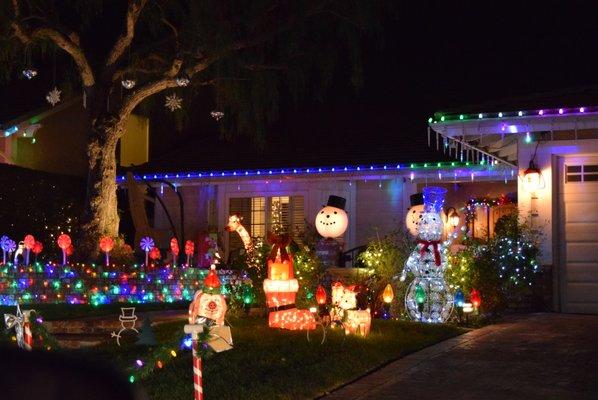Brea Christmas Light Neighborhood 2960 Primrose Ave #2970 Brea, CA