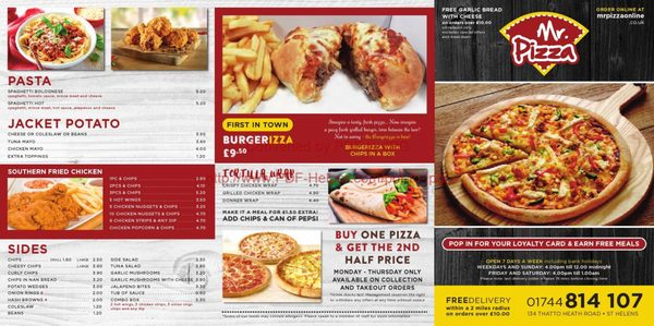 Mr Pizza Pizza 134 Thatto Heath Road St Helens