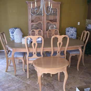 Ethan Allen French Country Bisque Table W Chairs For 8