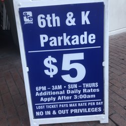 Photo of Ace Parking - 6th & K Parkade - San Diego, CA, US. Weeknight parking rate