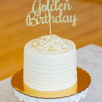 Superb My Golden Birthday Cake White Cake With Chai Buttercream Frosting Funny Birthday Cards Online Alyptdamsfinfo