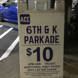 Photo of Ace Parking - 6th & K Parkade - San Diego, CA, US. Friday posted rate