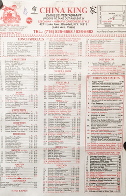 China King Restaurant 4271 Lake Ave Buffalo Ny Restaurants Mapquest