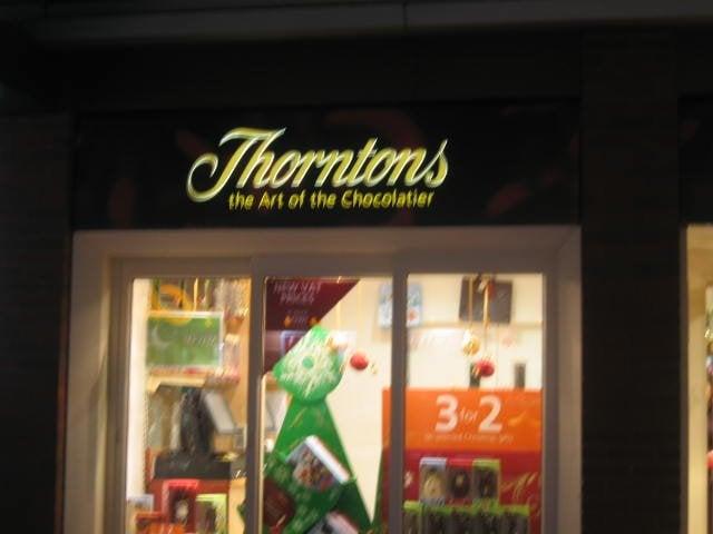 Thorntons Sweet Shops 14 Shopping Precinct Enfield