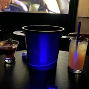 Photo of IPIC Theaters - Atlanta, GA, United States. Drinks - el corazon on the left and say it with your chest on the right