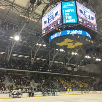 Photo of Yost Ice Arena - Ann Arbor, MI, United States. front row seats for hockey