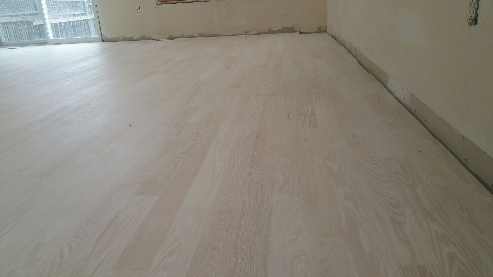 Red Oak Floor With Bona White Stain