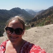 Photo of Angeles Crest Highway - La Canada, CA, United States. You can see the switchbacks you will climb behind me!