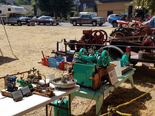Photo of Old Days - Los Alamos, CA, US. Old time engine and tractor displays
