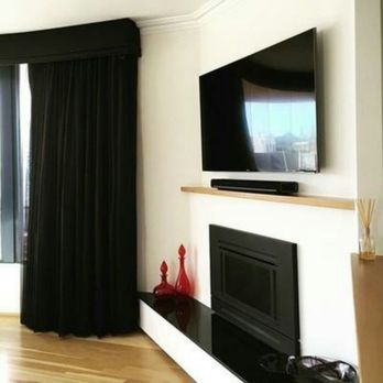 Tv Over Fireplace W Flush Mount Bracket And Wire Concealment Using