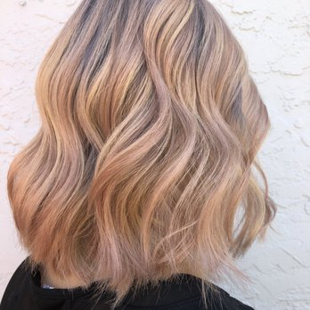 Balayage Rose Gold Blonde By Monica Follow Me Instagram