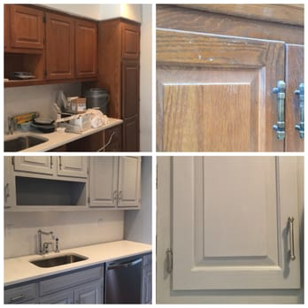 Client Kitchen Cabinets Transformation: We applied Chalk ...