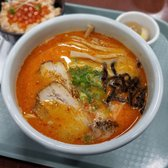 Photo of Hokkaido Ramen Santouka - Los Angeles, CA, United States. Combo B Spicy Miso Ramen and Sake & Ikura Bowl