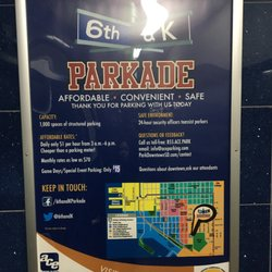 Photo of Ace Parking - 6th & K Parkade - San Diego, CA, US. Info poster near elevator
