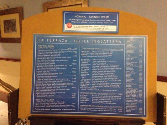 La Terraza Del Hotel Inglaterra Bares De Tapas Plaza