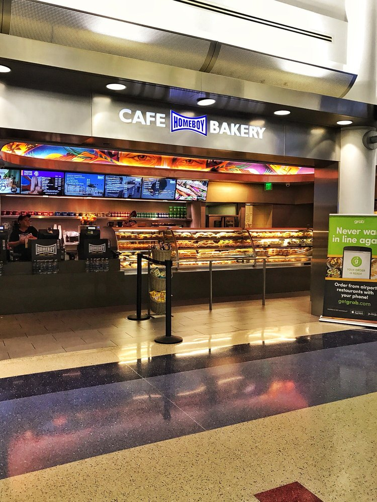 Photo of Homeboy Cafe & Bakery - Los Angeles, CA, United States. Right past TSA in Terminal 4