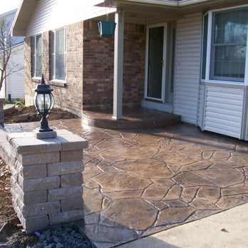 Stamped Concrete Front Porch Court Yard
