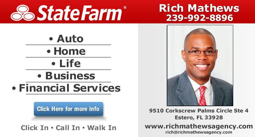 Rich Mathews State Farm Insurance Agent 10 Photos Insurance 9510 Corkscrew Palms Circle Estero Fl Phone Number Yelp