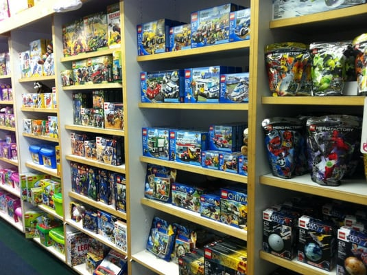 Toy Harbor shelves of toy