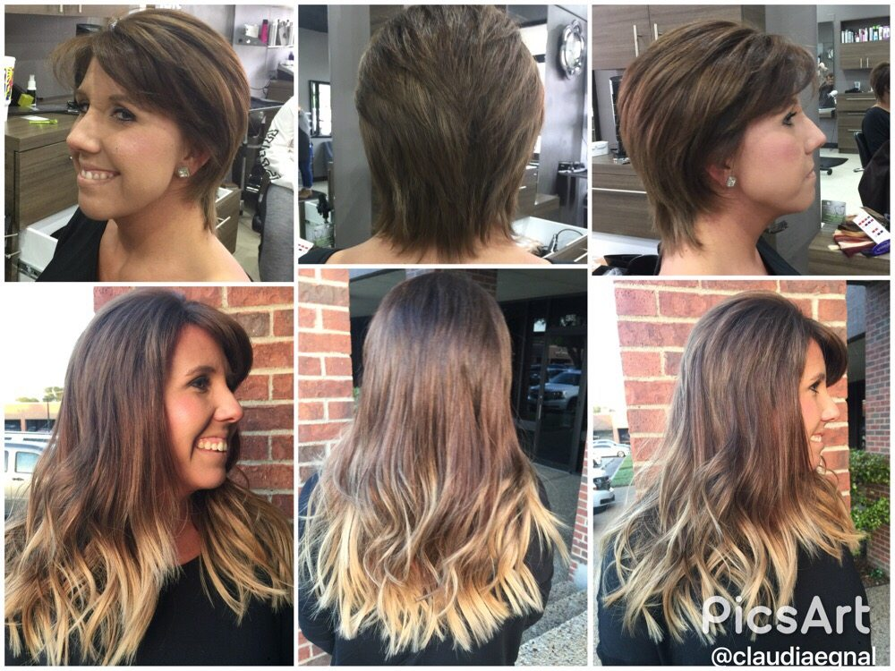 Salon extensions for short hair