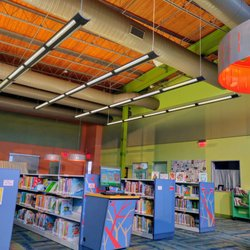 Photo of Smith Public Library - Wylie, TX, United States. Bright And Cheery Kids' Area.