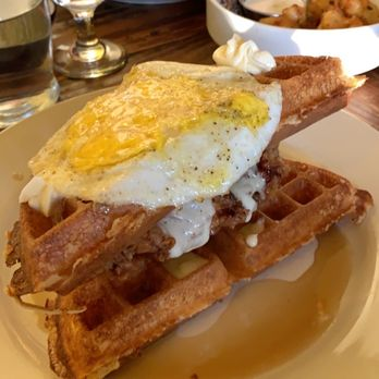 Photo of Revival - Minneapolis, MN, United States. Chicken and waffle sandwich