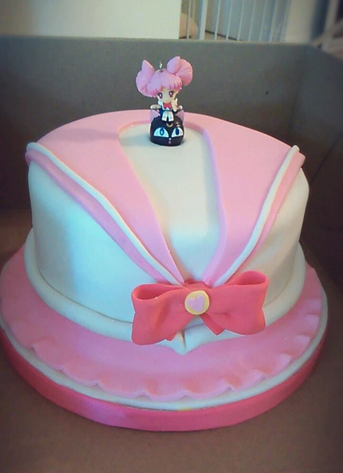 Pleasing Sailormoon Pink Birthday Cake Made By Bad Ass Cakes My Cousin Personalised Birthday Cards Beptaeletsinfo