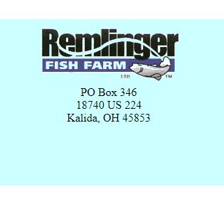 Remlinger Fish Farm Seafood Markets 18740 Us 224 Kalida Oh Phone Number