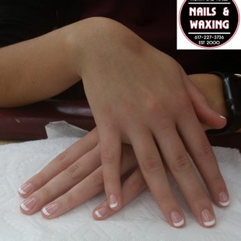 French manicure with a rounded shape , Yelp