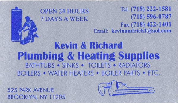 Kevin Richard Plumbing Heating Supplies 525 Park Ave Brooklyn Ny Kitchen Accessories Mapquest