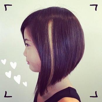 Kid S Haircut A Line Bob Long Front