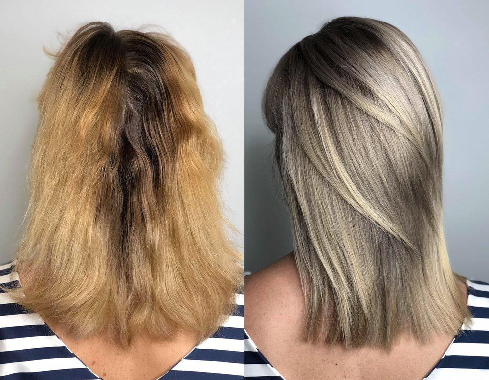 Blonde haarfarbe friseur