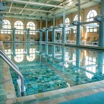 Indoor Pool With A Retractable Roof And
