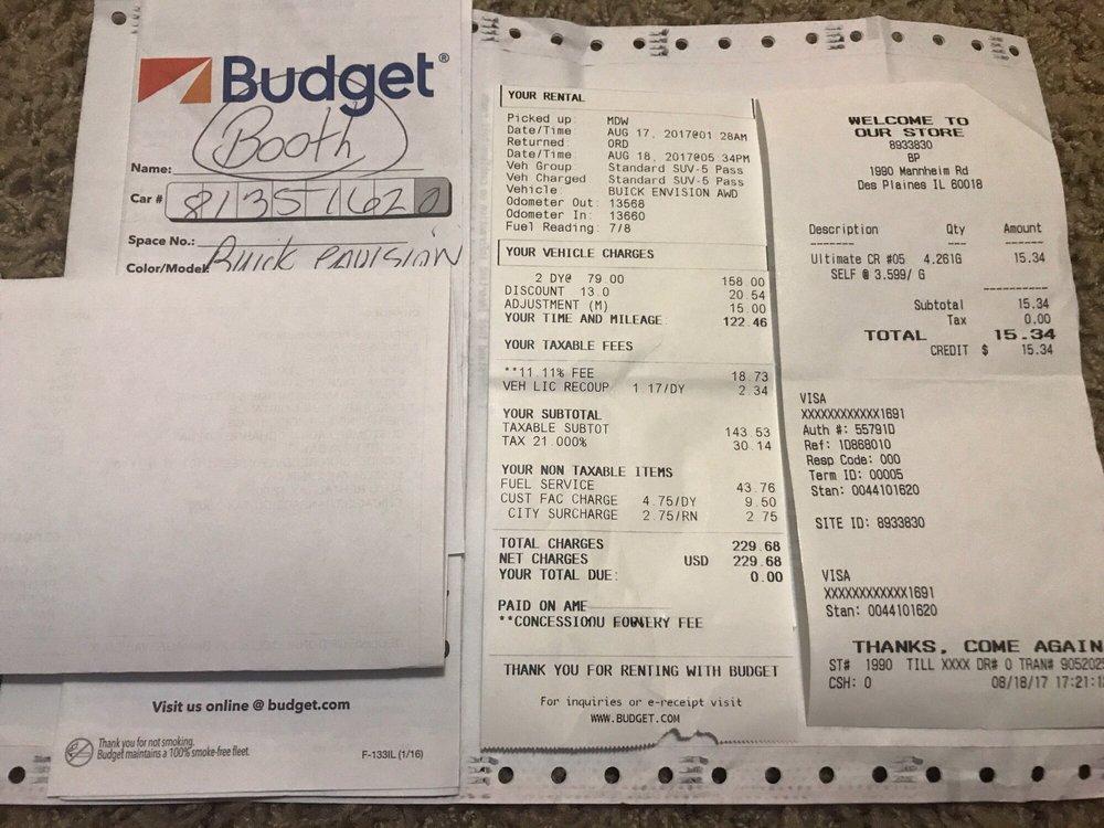 Budget 69 Reviews Car Rental 500 Bessie Coleman Dr