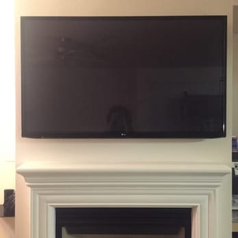 60 Inch Tv Hung Over Fire Place W Wires Hidden David Did Such A