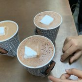 Photo of Dandelion Chocolate - Ferry Building - San Francisco, CA, United States. House mocha and two house hot chocolates